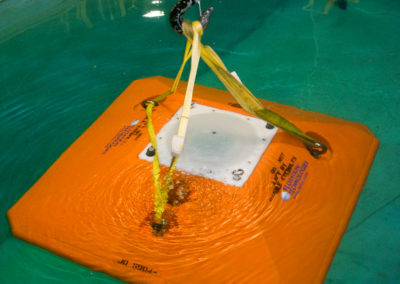 Trawl Resistant Bottom Frame of Deepwater Buoyancy, Inc. with built-in ADCP of Teledyne RD Instruments