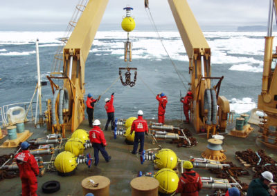 Several Teledyne RD INSTRUMENTS Long Ranger ADCPs with mooring equipment on board RV HEALY