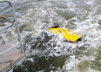 Schleppgerät EIVA Scanfish II, ausgerüstet mit CTD-Sensoren