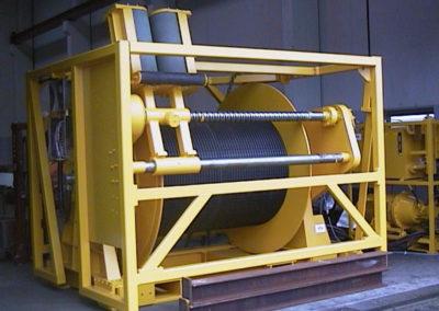 Kabelwinde mit Spulvorrichtung für Forschungsschiff, geeignet für Containertransport