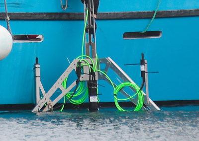 OCEAN SONICS, Inc. icListen Hydrophone Array, vorbereitet für den Einsatz.